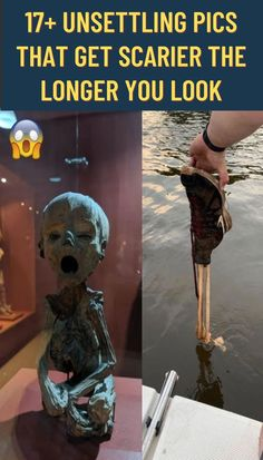17+ Unsettling Pics That Get Scarier The Longer You Look Humanity has a weird obsession with being creeped out that has existed for as long as people have been able to spread unsubstantiated weird stories across the internet accompanied by strange images. The internet is rife with creepy and unsettling images that people love to share in an attempt to win the crown of creepiness (which I imagine would be made out of spider's legs or something).