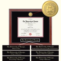 Signature Announcements Southeastern-Louisiana-University Undergraduate Professional//Doctor Sculpted Foil Seal Graduation Diploma Frame 16 x 16 Gold Accent Gloss Mahogany