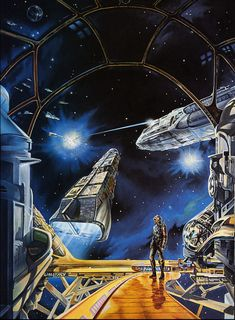 Ron Walotsky - Cover illustration for an edition of the novel A Talent for War by Jack McDevitt, 1989 Sci Fi Fantasy, Fantasy World, Space Fantasy, Science Fiction Art, Pulp Fiction, 70s Sci Fi Art, Classic Sci Fi, Alien Worlds, Environment Concept Art