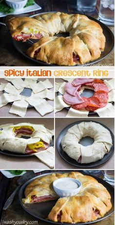 Ingredients 2 cans (8 oz) Pillsbury™ refrigerated crescent dinner rolls 1/2 cup well drained roasted red bell peppers (from a jar) 8 slices provolone cheese, halved 1/3 lb deli sliced hot salami 1/4 lb deli sliced beef 1/4 lb deli sliced