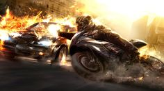 Need For Speed, Car, Motorcycle, Accident, Fire