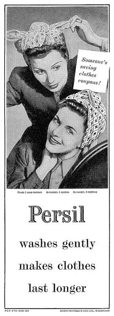 Persil advertisement. From Woman And Home magazine, July 1944.