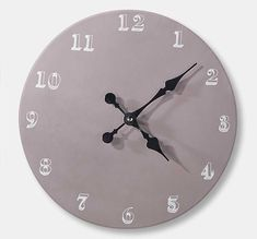 DIY Chalkboard Cloth with Martha Stewart Crafts. Add your own personal touch to your wall clock with chalkboard paint. #plaidcrafts