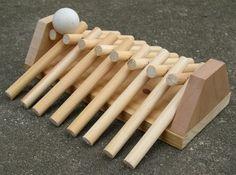 De ponta a ponta. tradicional, feito à mão, jogo de madeira