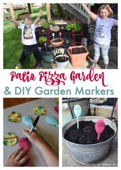 Patio Pizza Garden Plus DIY Garden Markers
