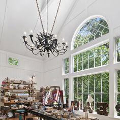 Christy Brinkley's Birdgehampton home's craft/art room.