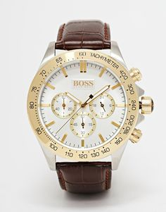 Hugo Boss Chronograph Leather Strap Watch 1513174