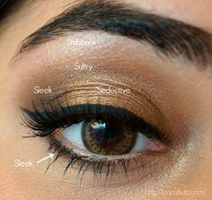theBalm Nude 'Tude Eye shadow Palette - look