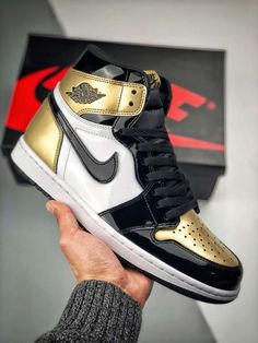 NIKE Air Jordan 1 Gold Toe AJ 1 861428-007