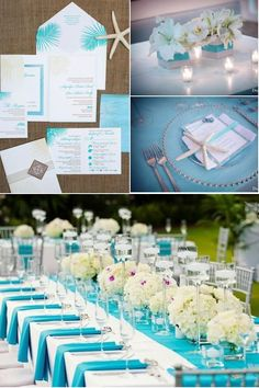 Tiffany and white wedding reception centerpieces and decor - I think white with kisses of blue is better than being hit over the head with it. :) like it but would like it in an aqua color