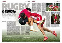 Rugby en Perú. Diseño Editorial del diario La República. #layout #newspaperdesign #Editorial #Design #Magazine
