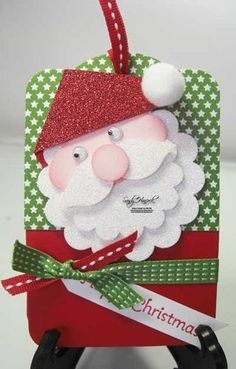Cute Santa Gift Card Holder with Instructions...