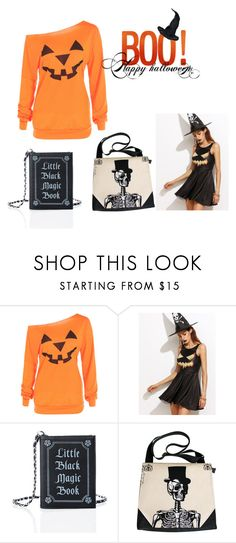 """Halloween"" by pearlio ❤ liked on Polyvore featuring interior, interiors, interior design, home, home decor, interior decorating, Current Mood, Halloween, bag and book"