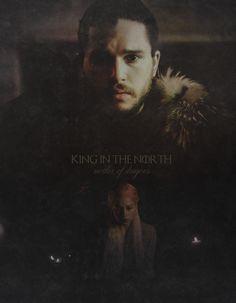 King of the North & Mother of Dragons | Jon Snow & Daenerys Targaryen | Jon x Dany | Jonerys #GameofThrones #tumblr edit