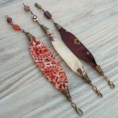 Gaya Recycled Sari Silk Bracelet Set by GypsyIntent on Etsy