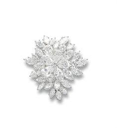 Diamond Brooch - 1962 - Van Cleef & Arpels - 18 k white gold -  $112,850 at auction