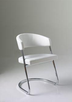 28 Noma stoelen chroom wit zwart