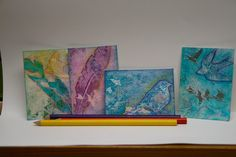 Lynne's Art World: Creating Impressionistic ATC's - My September Mixed Media Tutorial For STAMPlorations