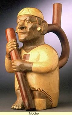 The Moche people developed an art form that includes some of the finest sculpture in the history of pottery. The range of designs makes these objects remarkable not only as art, but also as a record of the civilization from which they came. The extensive number of objects produced, suggests that the civilization was an extremely populous one, in which power and wealth were major goals.