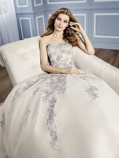 Moonlight Couture H1311 on trend couture lace wedding dresses and beaded wedding dresses