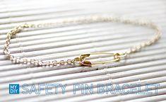My DIY   Safety Pin Bracelet   I SPY DIY
