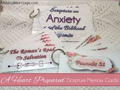 A Heart Prepared Scripture Memory Cards ~ A Biblical Marriage