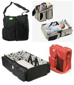 6 More Genius Baby Products convertible diaper bag/ bassinet
