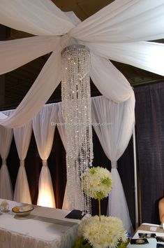 Ceiling Drape (open canopy) - By Dreamscape Event Decor LLC.