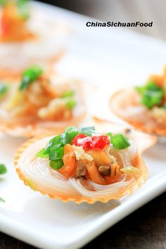 steamed scallops with vermicelli #Chinese #seafood