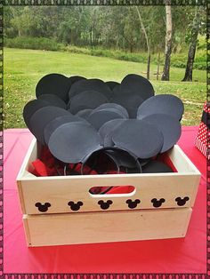 Aiden's bday - headbands (Minnie for girls) Mickey Mouse Birthday Party Ideas | Photo 9 of 21 | Catch My Party