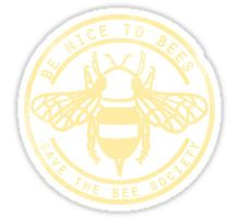 Save The Bee Society Sticker