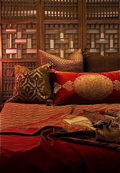 """Maroc"" Fortuny Style Venetian Suede Pillows www.chrisgalushaleather.com  - lovely!!!"