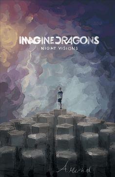 Imagine Dragons Night Vision album cover art.