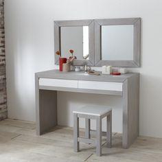 Coiffeuse tiroirs retro projet chambre pinterest r tro - Coiffeuses meubles modernes ...