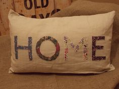 Vintage Home Cushion, Shabby Chic Style, Old Houses, Paper Shopping Bag, Burlap, Reusable Tote Bags, Cushions, Vintage, Home, Decor