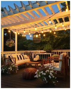 12 Pergola Patio Ideas that are perfect for garden lovers! Diy Pergola, Deck With Pergola, Pergola Shade, Pergola Ideas, Pergola Kits, Patio Shade, Outdoor Living Rooms, Outdoor Spaces, Patio Sun Shades