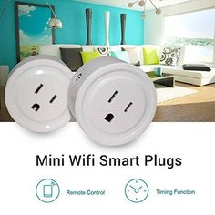 18364ff3e63 Mini Wifi Smart Plugs 2 Pack Outlet Bundle Compatible with Alexa  IOS/Android (eBay