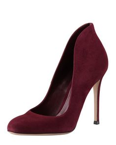 Gianvito Rossi Suede High-Back Pump