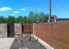 Забор древянный горизонтальный