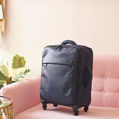 The Lipault carry-on will keep your travels chic and ultralight this fall! #KaehlerLuggage #Chicago #Luggage #Travel