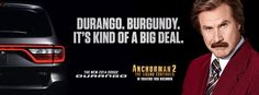 Ron Burgundy Delivers Four More Dodge Commercials. Click on Burgandy to watch the funny ads!