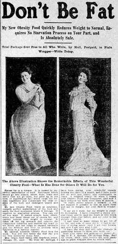 dont-be-fat ad -1905. Oh my
