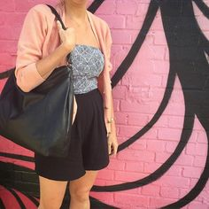 Ready for the weekend with Aina hobo at @copelandparkse - leather slouchy hobo bag shown in black (Available in black, teal or tan leather £95) http://auraque.com/handbags/70-aina-large-leather-handbag.html