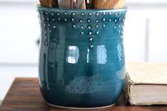 Large Kitchen Utensil Holder  Custom Color by BackBayPottery, $68.00