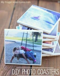 e379e574c25 Easy DIY Photo Coasters- such a fun craft for the kids and homemade gift  idea