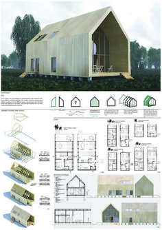 Tiny House Plans 118289927699826030 - Artur Żarejko – Anna Jaroch Source by marion_green Tiny House Cabin, Tiny House Plans, Tiny House Design, Modern House Design, Prefab Cabins, Prefab Homes, Prefab Tiny Houses, Prefab Buildings, Metal Buildings