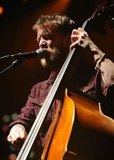 Ted Dwane of Mumford & Sons performs at the TD Garden in Boston on February 5, 2013.  Photo courtesy of TD Garden/Brian Babineau.