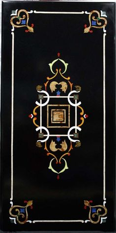 Rectangle Coffee Table Italian Florence Pietra Dura Marble inlaid Ancient Table #Pachikari #PietraDura