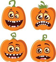Recortables para Halloween - printable pumpkin Halloween Wood Crafts, Theme Halloween, Halloween Buckets, Halloween Rocks, Halloween Painting, Halloween Labels, Halloween Clipart, Halloween Banner, Halloween Patterns