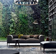 Livingroom by Poliform | Elle Decor Italia Dec 2011: vertical garden